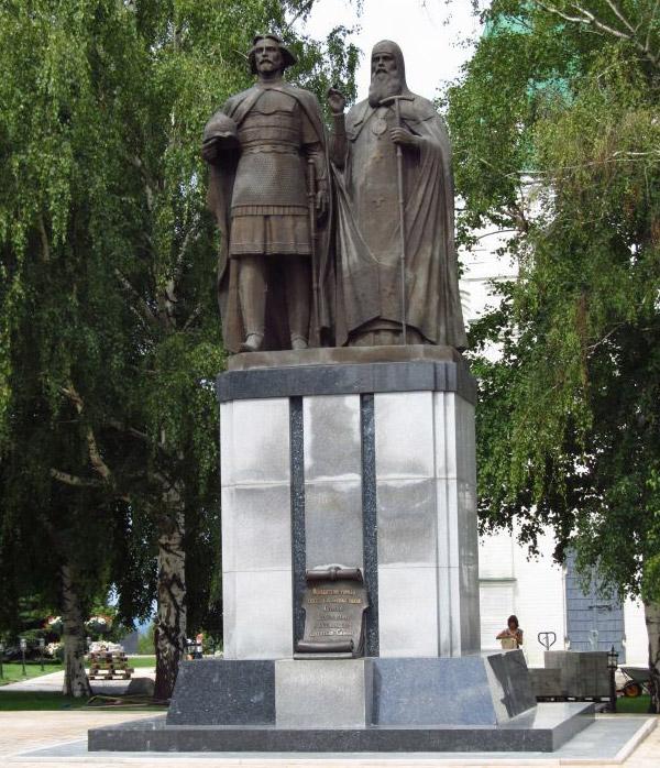 Памятник основателю города Святому великому князю Юрию Всеволодовичу и Симону от нижегородцев